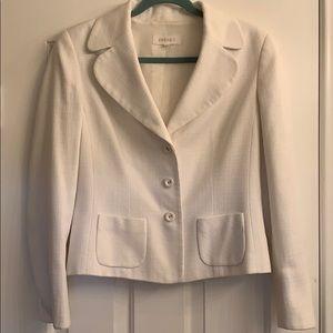 White Escada lined Blazer jacket